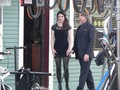 Emilie de ravin & Robert Carlyle on set - once-upon-a-time photo