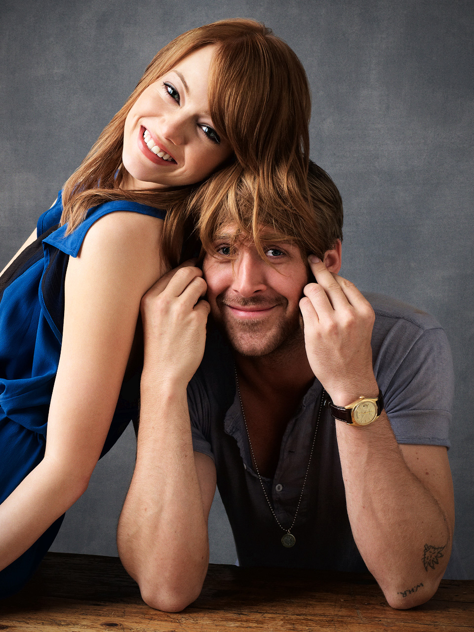 Emma Stone and Ryan Gosling- Stupid Crazy Cinta photoshoot 2012