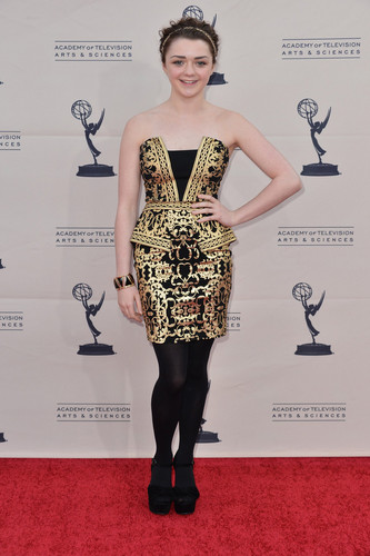Emmys' Game of Thrones panel- Maisie Williams
