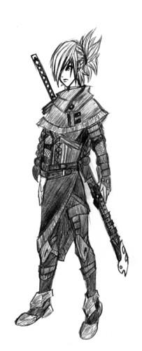 Female Ninja Sketch