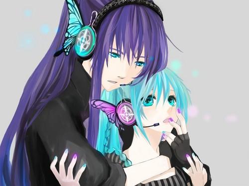 Gakupo and Miku