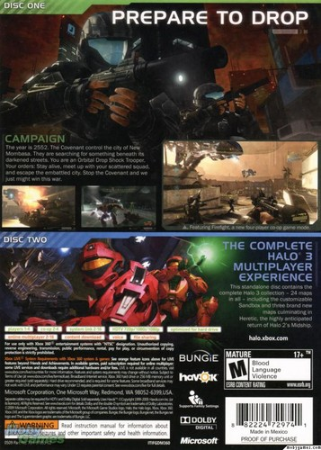 Halo 3: ODST cover