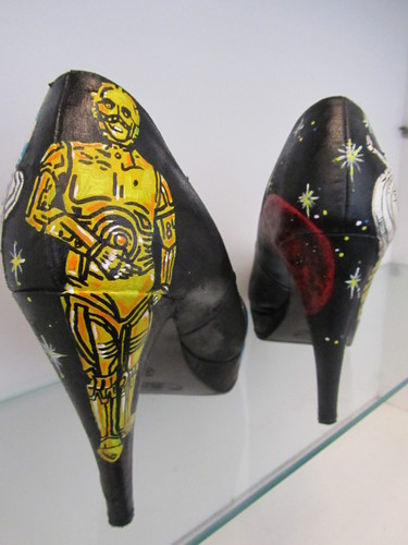 Hand painted amazing nyota wars shoes
