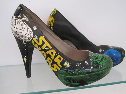 Hand painted amazing bintang wars shoes