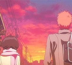 Ichigo and Rukia (Physical Contact)