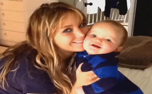 Jennifer with her nephew