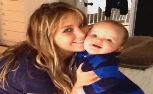 Jennifer with her nephew