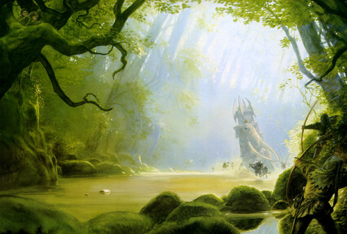J.R.R. Tolkien wallpaper possibly with an alga entitled John Howe`s illustration