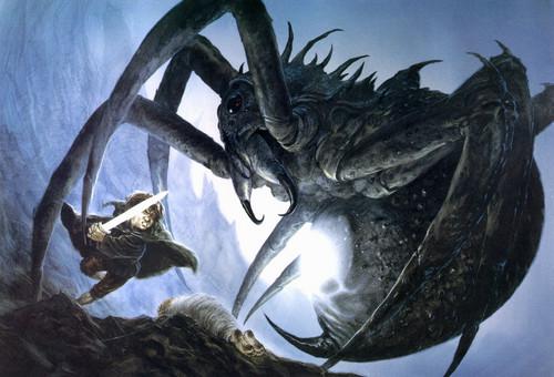 J.R.R. Tolkien wallpaper with a triceratops entitled John Howe`s illustration