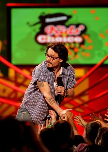 Johnny Depp at the Kid's Choice Awards 2005