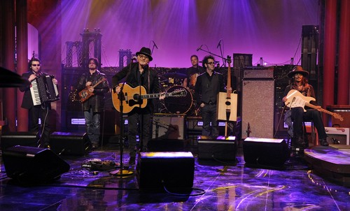 Johnny on David Letterman toon