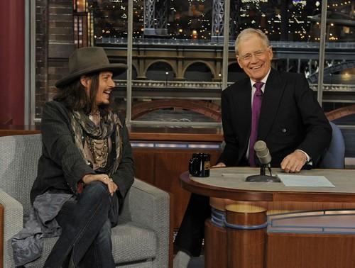 Johnny on David Letterman Show