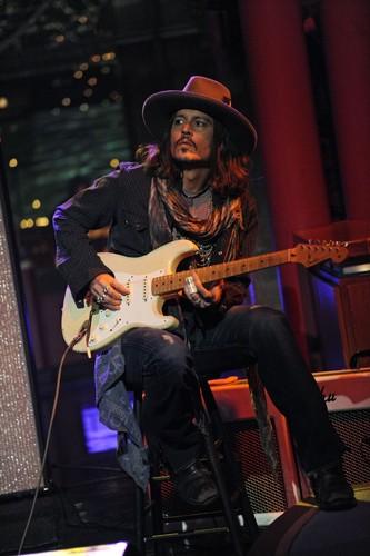 Johnny on David Letterman mostra