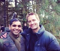 Josh Holloway e o ator Raj Lal - Set intelligence 18.03.2013.