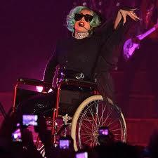 Lady gaga wheelchair