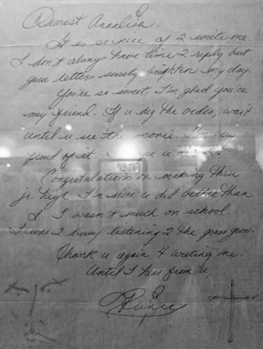 Letter of Prince to a little girl