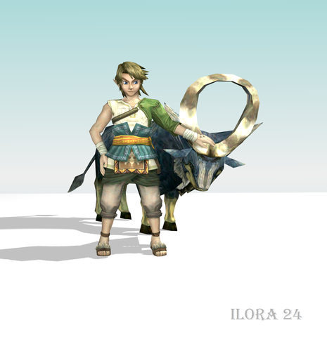 Link and his goat.