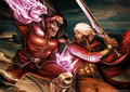 M. Bison vs Dante - devil-may-cry fan art