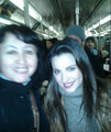 MAITE PERRONI WITH FAN ON THE SUBWAY IN NEW YORK (MARCH 10)
