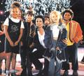 MICHAEL AND KIDS ON STAGE - HISTORY TOUR - michael-jackson photo