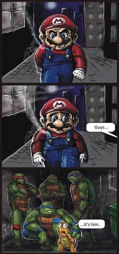 Images marrantes Mario-VS-turtles-tmnt-2012-34054260-235-500