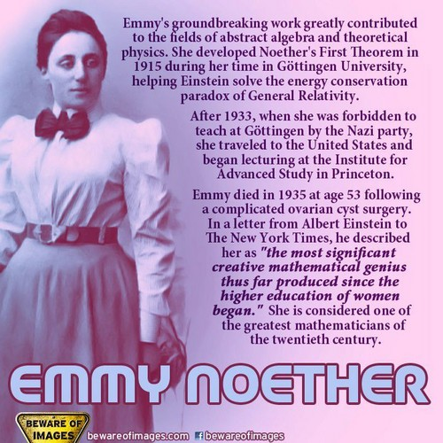 Feminism 壁紙 titled Mathematician and Scientist Happy birthday Amalie Emmy Noeth
