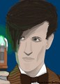 Matt Smith As The Doctor (Painting) - matt-smith fan art
