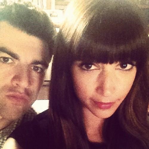 Max Greenfield and Hannah Simone