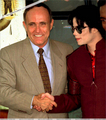 Michael And Former New York Mayor, Rudy Guilliani - michael-jackson photo