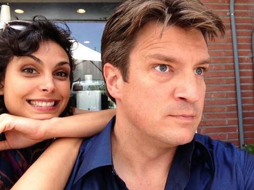 Nathan Fillion wallpaper titled Nathan w/ Morena Baccarin