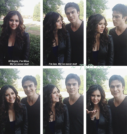 Nina and Ian -doing a video for a fan ♥