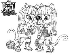 Monster High karatasi la kupamba ukuta with anime titled PRINT THIS OFF AND COLOR IT IN THE WERECAT SISTAS