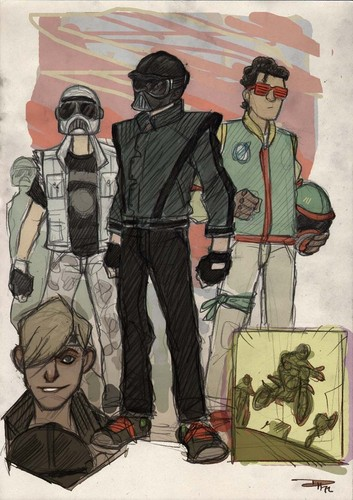 星, 星级 WARS 80s High School Re-Design Vader ,Boba and Trooper