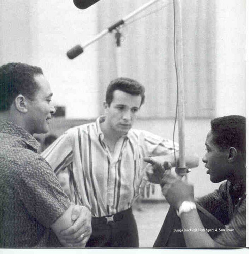 Sam Cooke In The Recording Studio With Herb Alpert And Bumps Blackwell Back In 1960