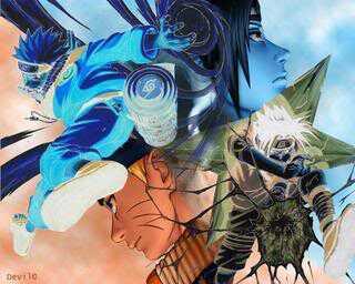 Sasuke vs 나루토