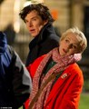 Sherlock Filming - Benedict and Amanda Abbington - sherlock-on-bbc-one photo