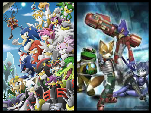 Sonic and StarFox team!