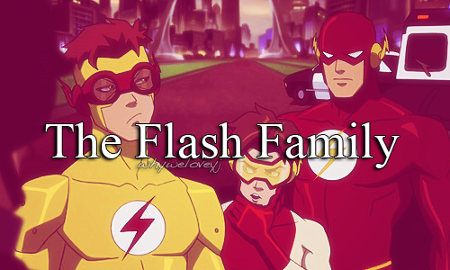 in young justice wallpaper containing anime titled The Flash Family