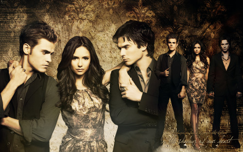 The Vampire Diaries wallpaper probably with a business suit, a well dressed person, and a bridesmaid titled Vampire Diaries