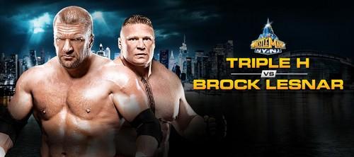 Wrestlemania 29:Triple H vs Brock Lesnar