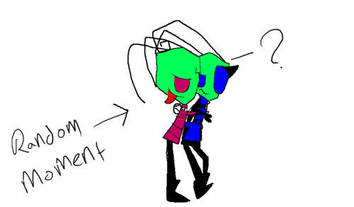 Zim and Zinc- &Zim is now 99% more crazy o3o* HOW DARE YOU HUG ZINC D8<