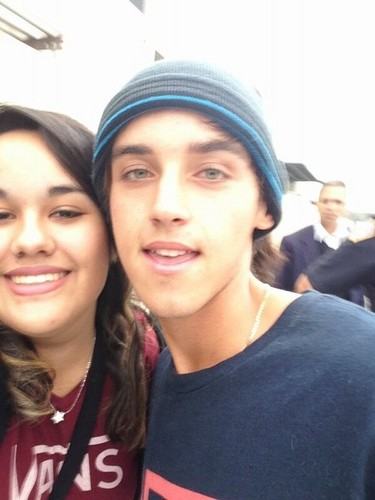beau brooks with his Fans