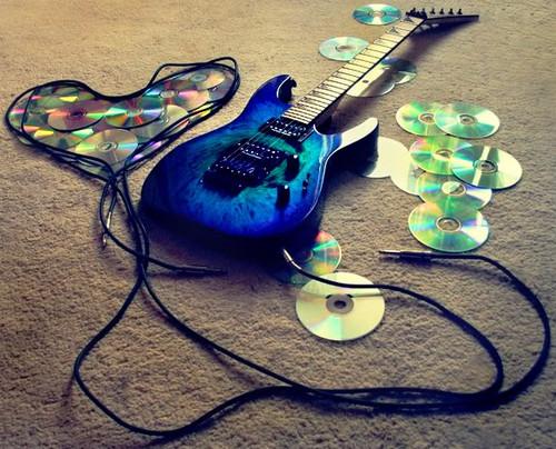 blue guitarra