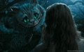 chashire cat and alice - alice-in-wonderland-2010 fan art