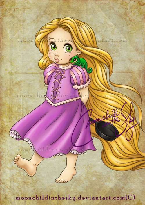 Child rapunzel disney princess photo 34064632 fanpop - Princesse disney raiponce ...