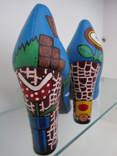 fabulous hand painted Super mario heels