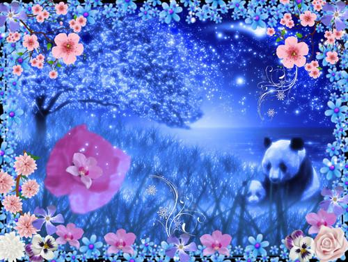 floral panda