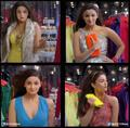 four outfits in gulabi aankhen