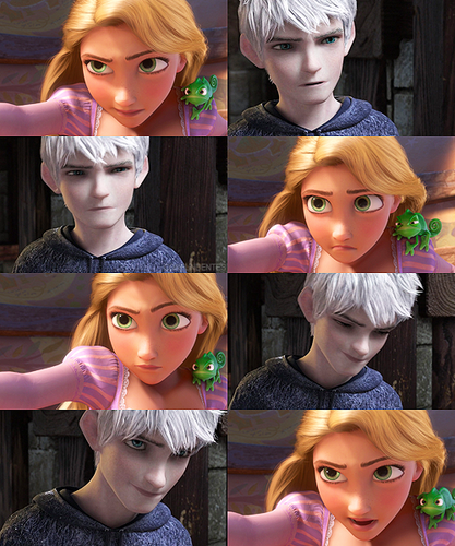 Rise of the Guardians wallpaper titled jack frost & rapunzel