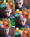jack frost & rapunzel - rise-of-the-guardians fan art